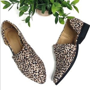 Qupid   cut out leopard print flat booties size 6